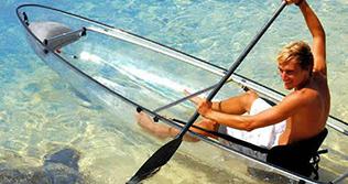 See-through canoe
